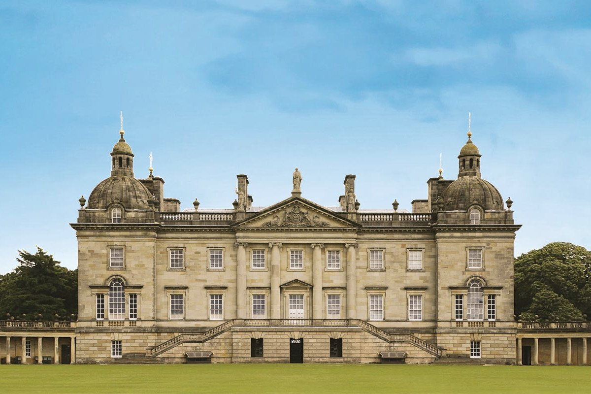 West front of Houghton Hall, a grand stately home built in the 1720s for Britain's first Prime Minister.