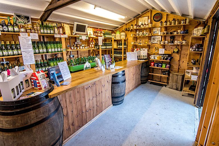 The shop at Whin Hill Norfolk Cider in Wells.