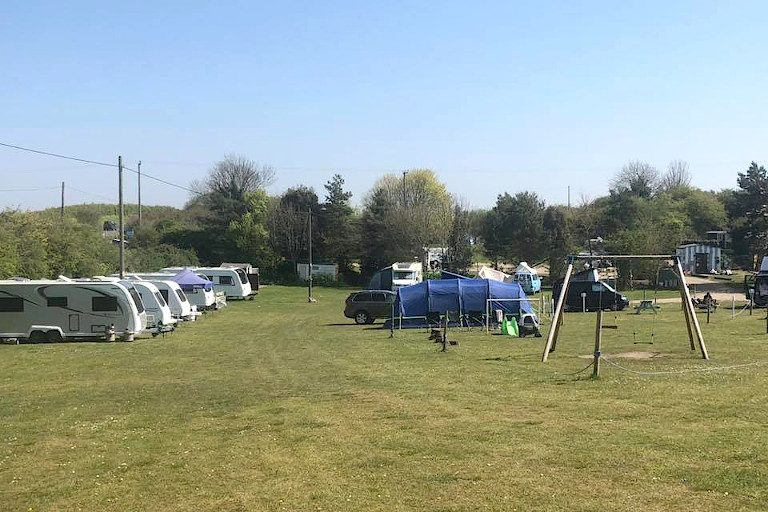 Blue Skies Campsite for caravans, motor homes and tents.