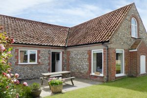 The exterior of Antwis Cottage holiday property in Binham.