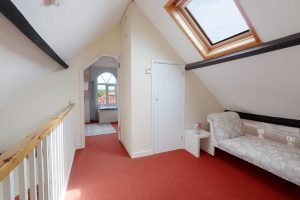 The landing with skylight at Antwis holiday cottage in Binham.