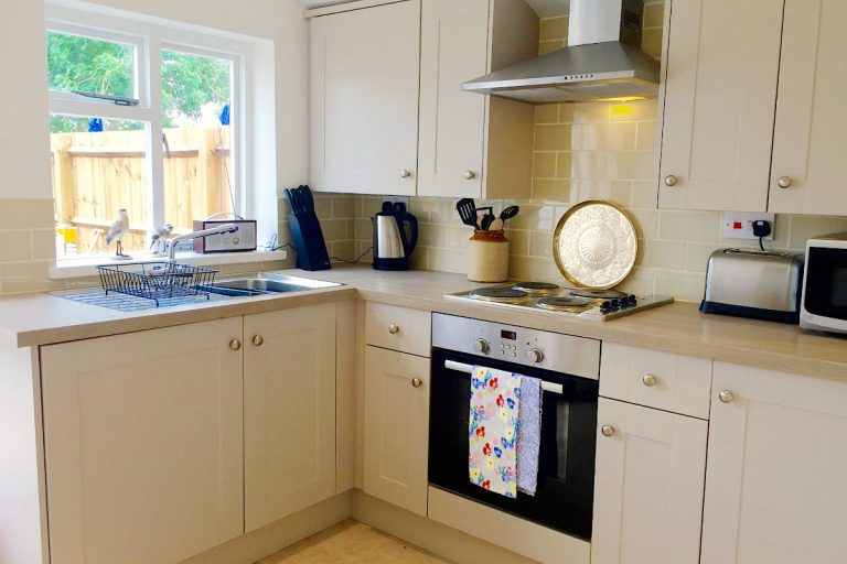 The smart kitchen at Carpenters Cottage in Wighton.