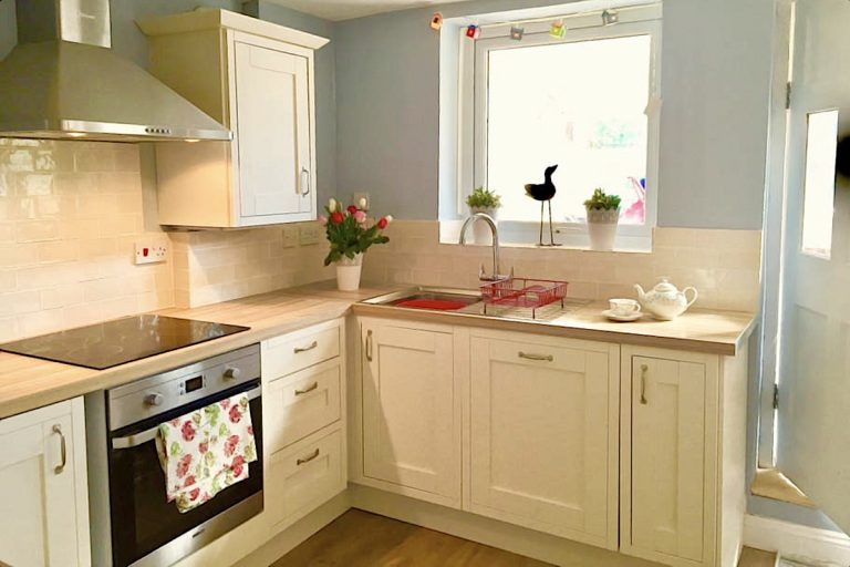 The kitchen at Grey Seal Cottage in Wells-next-the-Sea.