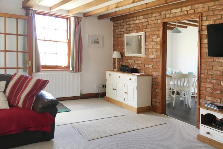 The lounge at Hayloft Cottage holiday property in Wells