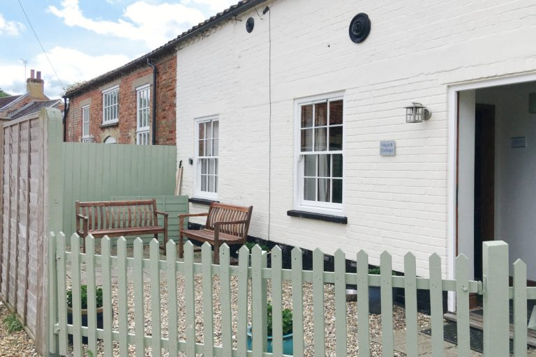 The exterior of Hayloft Cottage in Wells-next-the-Sea
