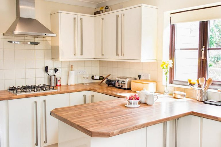 The modern kitchen at Laylands Yard in Wells-next-the-Sea.