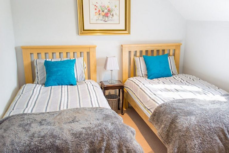 Twin bedroom at Laylands Yard in Wells-next-the-Sea.