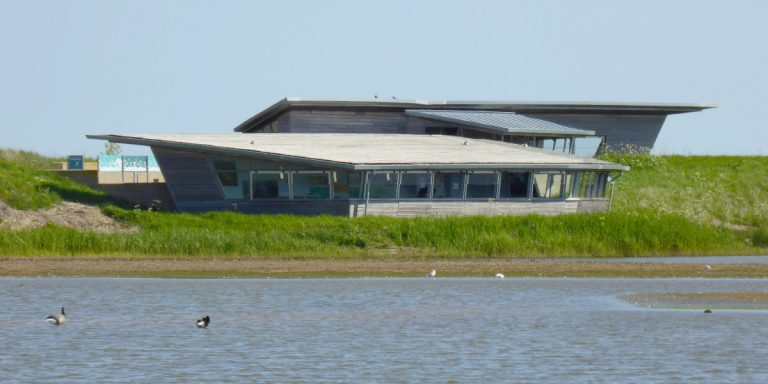 The Parrinder Hide at RSPB Titchwell Marsh.