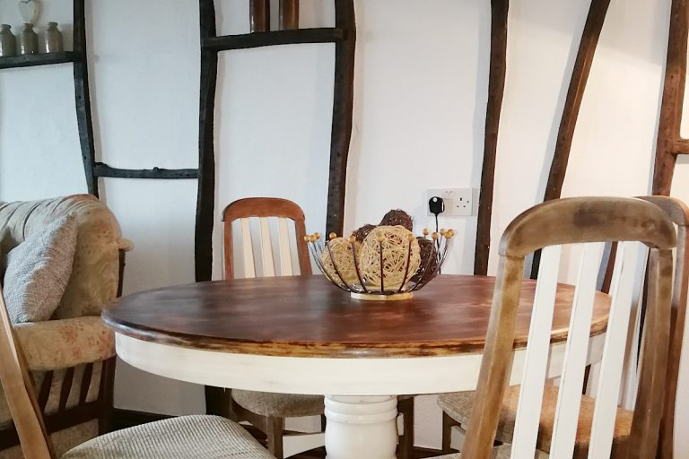 The dining table at Pirates Cottage in Wells.
