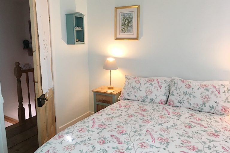 The double bedroom at Seashell Cottage in Wells.