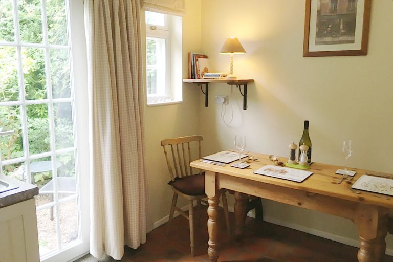 The dining area at Seashell Cottage in Wells-next-the-Sea.