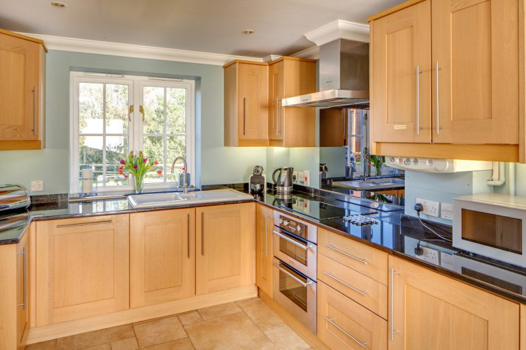 The luxury kitchen at Tolly House in Wells-next-the-Sea.