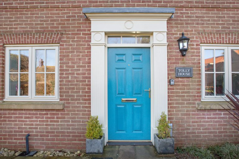 The front door at Tolly House in Wells-next-the-Sea.