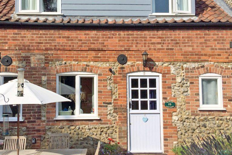 Exterior of Barley Cottage in Burnham Market.