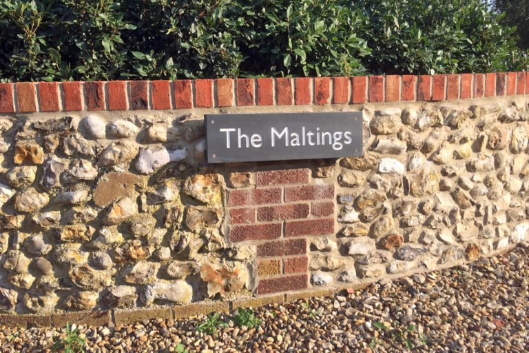 The Maltings sign in Burnham Market.