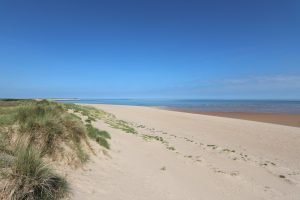 The beautiful sandy beach at Burnham Overy Staithe.