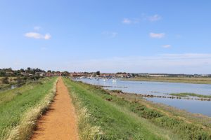 The beach path heading towards Burnham Overy Staithe.