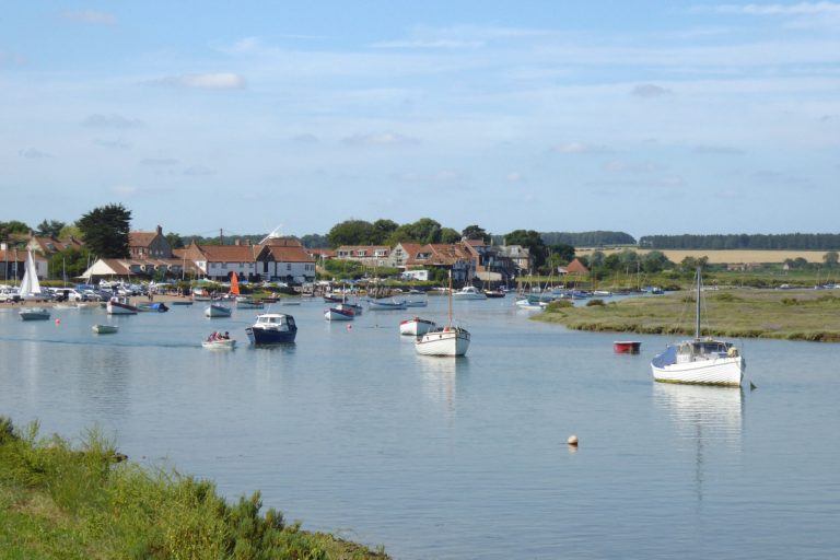 Boats in the harbour at Burnham Overy Staithe.