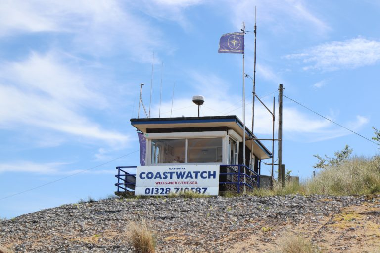 The National Coast Watch building at Wells-next-the-Sea.