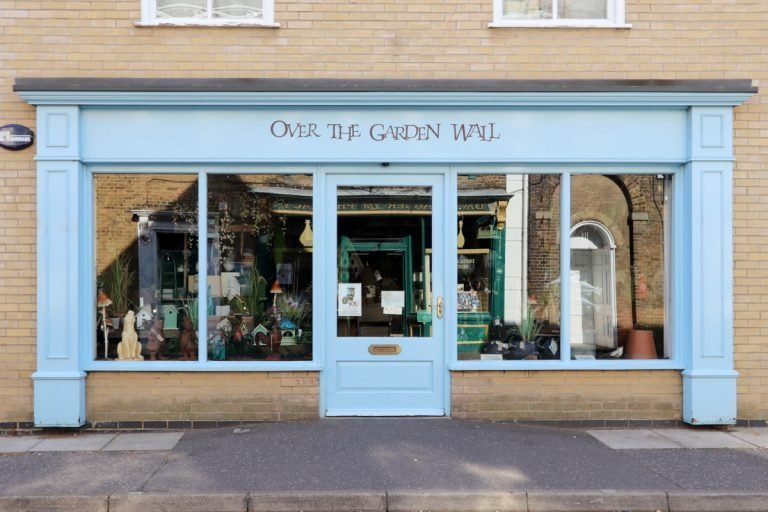 Over The Garden Wall shop front in Wells-next-the-Sea.
