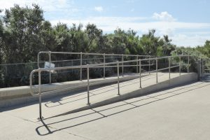 Access ramps at Heacham north beach.