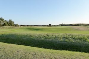 View of the fairway at Hunstanton Golf Course.