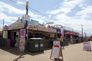 Sweet treats for sale on the promenade at Hunstanton.
