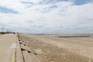 The promenade running alongside the beach at Hunstanton.