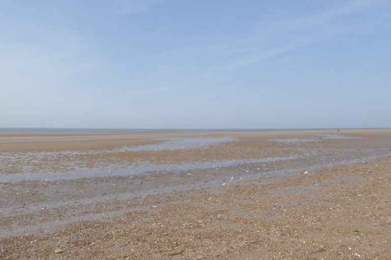 A deserted Hunstanton north beach at low tide.