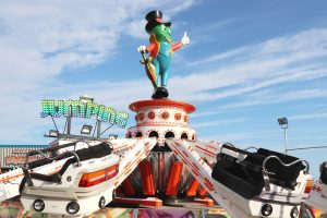 The Grasshopper funfair ride at Hunstanton's Rainbow Park located on the seafront.