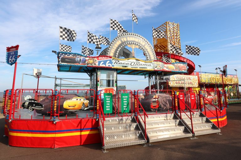 The Race O Rama ride at Rainbow Park amusements in Hunstanton.