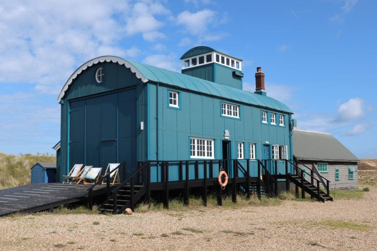 The Lifeboat House visitor centre at Blakeney Point.