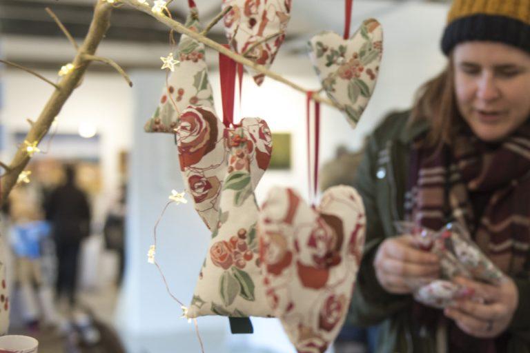 Decorations at the Pensthorpe Christmas Fair.