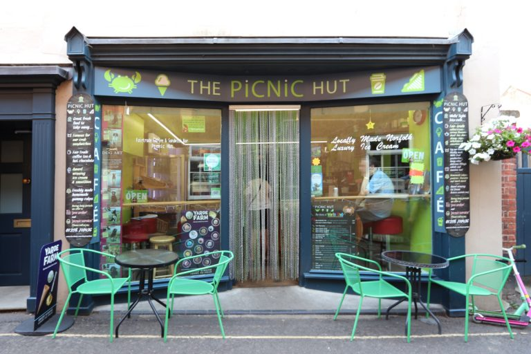 The Picnic Hut sandwich bar in Wells-next-the-Sea.