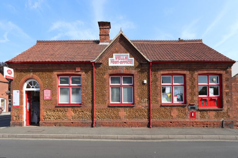 The post office building in Wells-next-the-Sea.