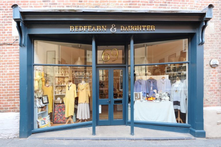 Redfearn & Daughter shop front in Wells-next-the-Sea.