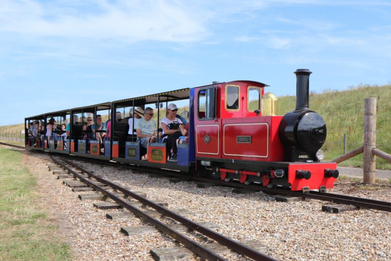 The Wells Harbour Railway, a miniature train that runs between Wells Town and Wells Beach.