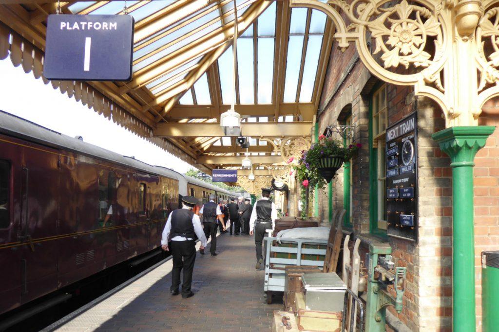 Platform 1 at Sheringham Station on the North Norfolk Railway.