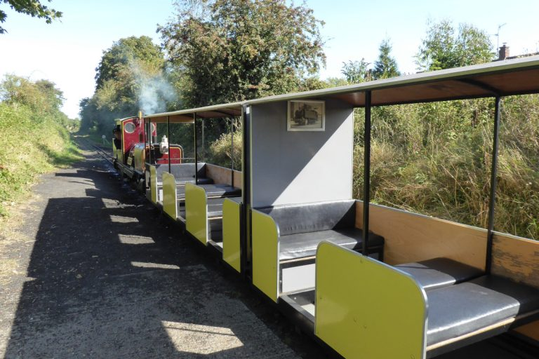 Empty carriages on the Wells and Walsingham Light Railway.